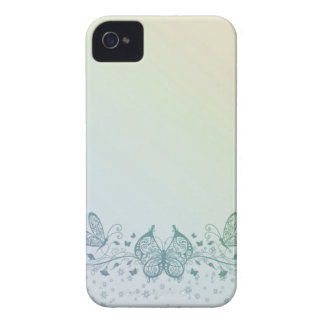 Aqua Blue Green Delicate Butterfly Case-Mate iPhone 4 Cases