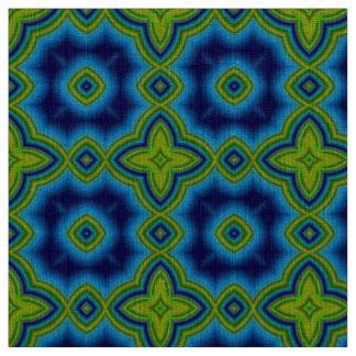 Aqua blue & green Moroccan geometric pattern Fabric