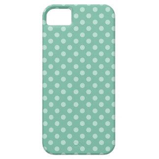 Aqua Blue Little Polka Dots Pattern Print Gifts iPhone 5 Case