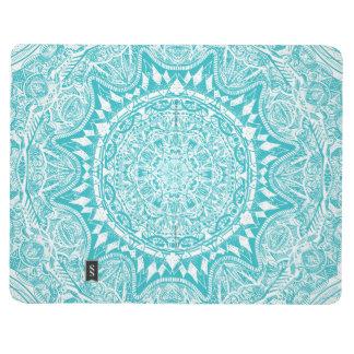 Aqua Blue Mandala Pattern Journal