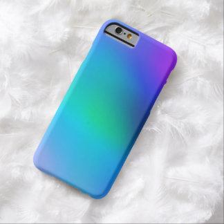Aqua Blue Mint and Purple Abstract iphone 6 Case Barely There iPhone 6 Case