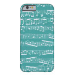Aqua Blue music notes iPhone 6 Case