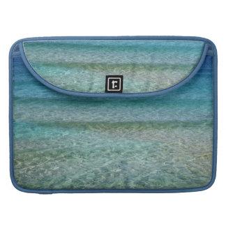 Aqua Blue Ocean Water Abstract Art Macbook Sleeve