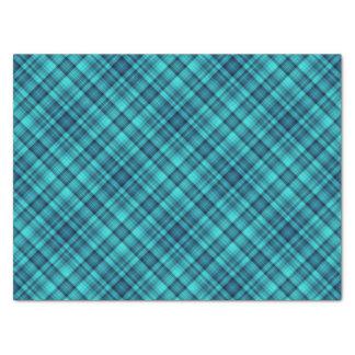 "Aqua blue plaid 15"" x 20"" tissue paper"