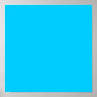 Aqua Blue Poster