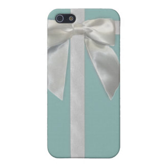 Aqua blue ribbon Iphone4/4s case Case For The iPhone 5