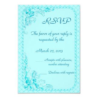 Aqua Blue RSVP card