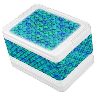 Aqua Blue Scales Cooler