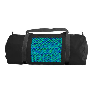 Aqua Blue Scales Gym Bag