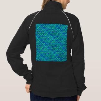 Aqua Blue Scales Jacket