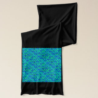 Aqua Blue Scales Scarf