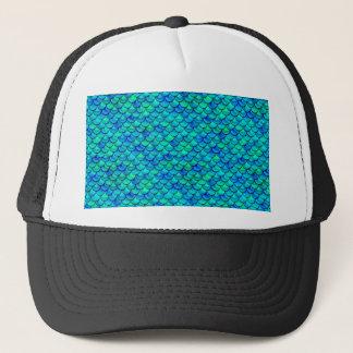 Aqua Blue Scales Trucker Hat