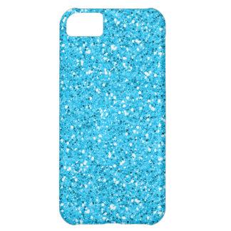 Aqua Blue Shimmer Glitter iPhone 5C Case