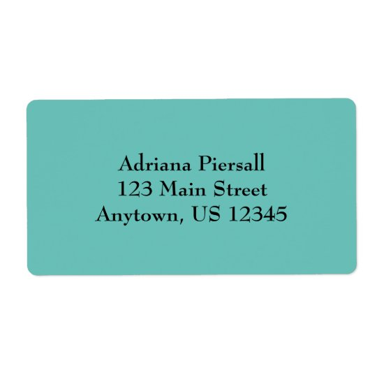 Aqua Blue Simple Plain Shipping Labels