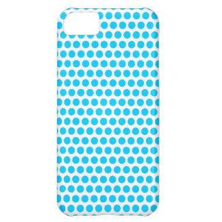 Aqua Blue Small Dots iPhone 5C Case