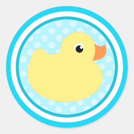 Aqua Blue Sweet Baby Duck Stickers