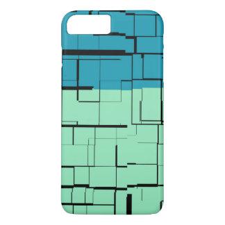 Aqua Blue Teal Green Modern Pattern iPhone 8 Plus/7 Plus Case