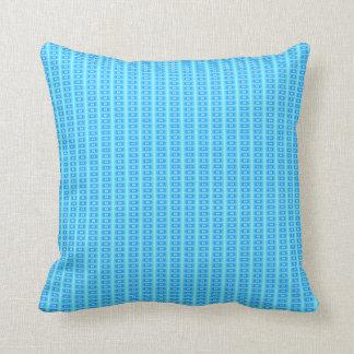 Aqua Blue Tile Effect> Patterned Pillows
