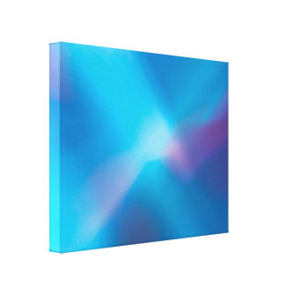 Aqua Blue Violet Glowing Light #1 Abstract Canvas Stretched Canvas Prints