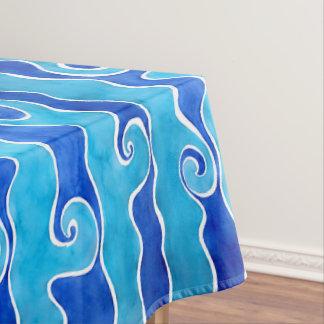 Aqua Blue Waves Tablecloth