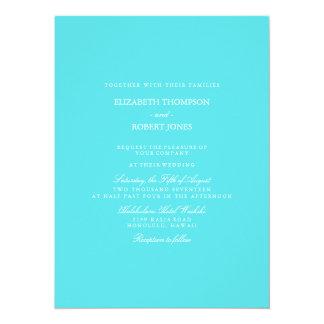 Aqua Blue Wedding 14 Cm X 19 Cm Invitation Card