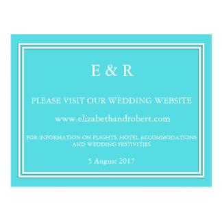 Aqua Blue Wedding Postcard