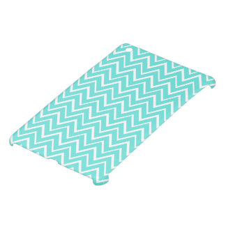 Aqua blue whimsical zigzag chevron pattern trendy iPad mini cases