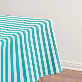 Aqua Blues Ombre Stripe Tablecloth