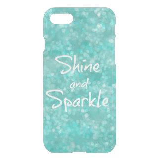 Aqua Bokeh Shine and Sparkle Quote iPhone 7 Case