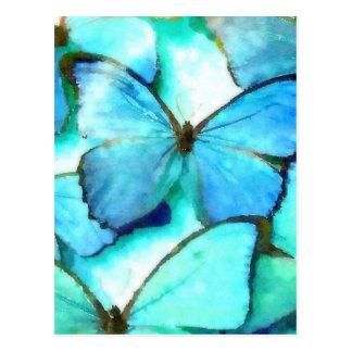 Aqua Butterflies Postcard