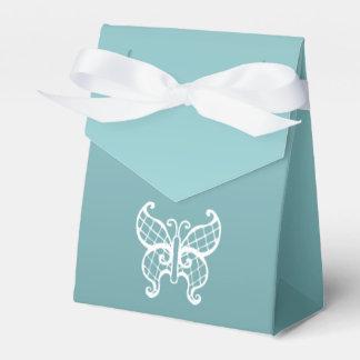 Aqua Butterfly Favor Box Favour Box