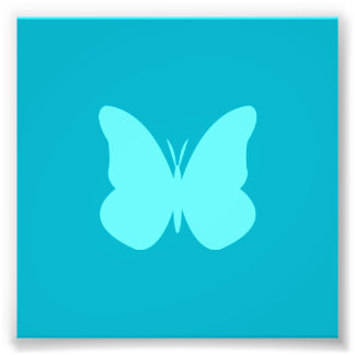 aqua butterfly photo print
