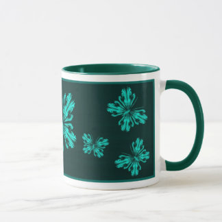 Aqua butterfly (stylised) mug