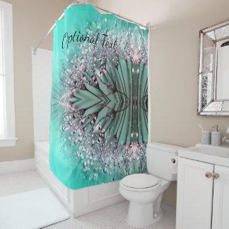 Aqua Cactus Bonsai Bloom Shower Curtain