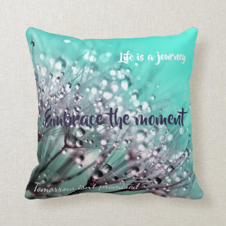 Aqua Cactus Bonsai Life Is A Journey Pillow