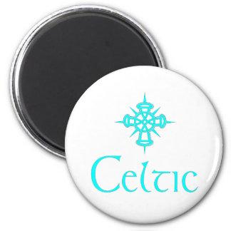 Aqua Celtic with Cross Refrigerator Magnet