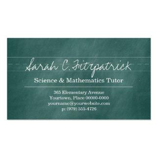 Aqua Chalkboard Teacher Tutor Pack Of Standard Business Cards