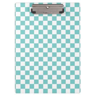 Aqua Checkerboard Pattern Clipboard