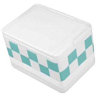 Aqua Checkerboard Pattern Cooler