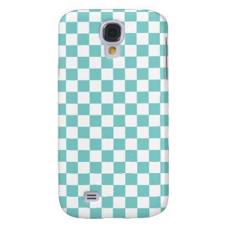 Aqua Checkerboard Pattern Galaxy S4 Cover