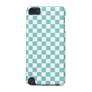 Aqua Checkerboard Pattern iPod Touch (5th Generation) Case