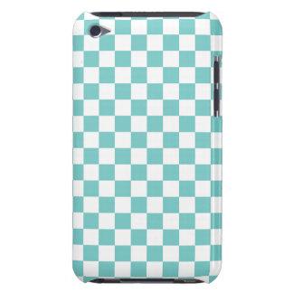 Aqua Checkerboard Pattern iPod Touch Cover