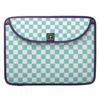 Aqua Checkerboard Pattern Sleeve For MacBooks