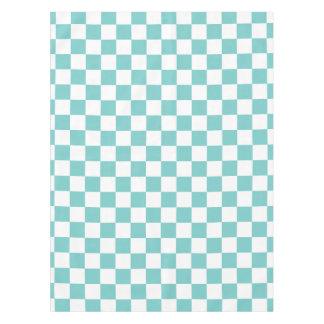 Aqua Checkerboard Pattern Tablecloth