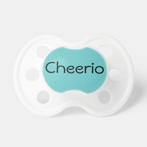 Aqua Cheerio British Hello Baby Dummy Binkie Pacifiers