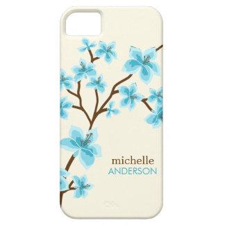 Aqua Cherry Blossoms Tree iPhone 5 Cases