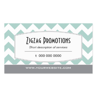 Aqua Chevron Pack Of Standard Business Cards