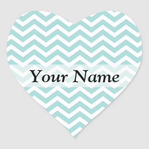 Aqua chevron pattern stickers
