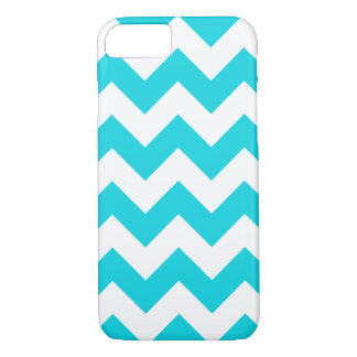 Aqua Chevron Zigzag iPhone 7 Case