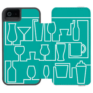 Aqua cocktail party incipio watson™ iPhone 5 wallet case